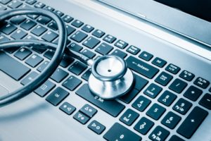Stethoscope On A Laptop