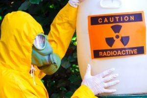 Man Holding Radioactive Material