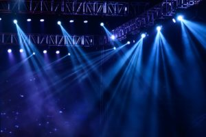 Stage with spotlight