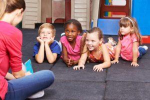 Teacher Teaching a Class of Preschool Children