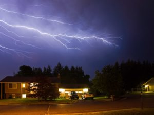 Lightning Flashes across a stormy night