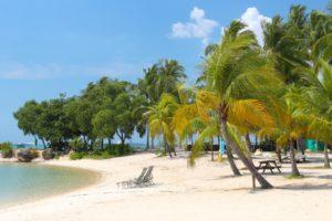 Beach in Sentosa island