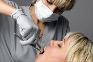 Female Having Her Teeth Removed