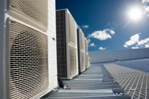 HVAC system on a roof