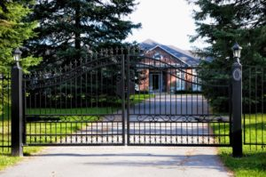 House With Metal Fence Gate