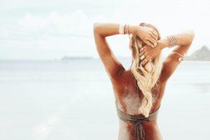 Woman with a beautiful tan