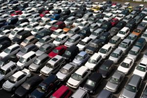 A car lot for used cars
