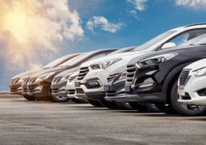 Cars aligned
