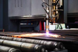 Precision cutting through laser markings