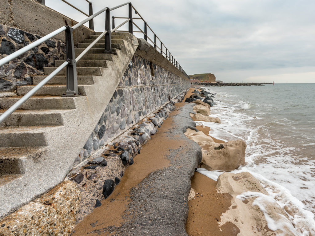 Photo of seawall with stairs