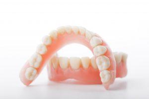 dentures on white background