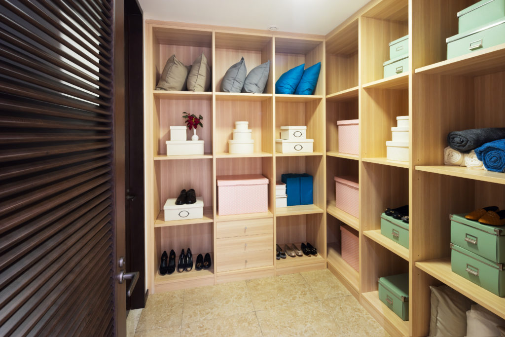 Interior of home storage room