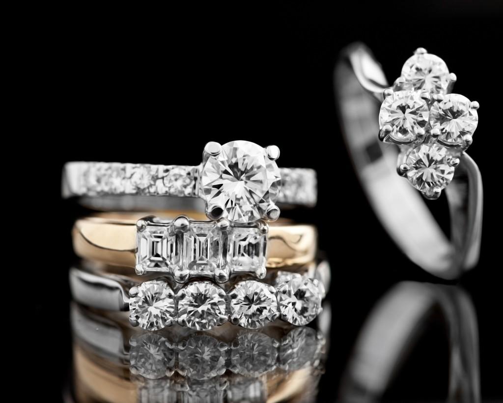 Diamond-studded rings