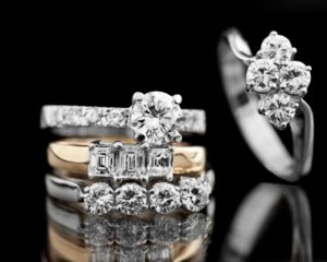 Diamond-studded rings