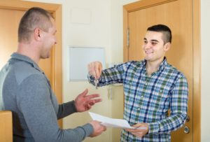 Landlord providing the key and contract