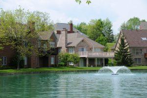 Suburban Lake Front Homes