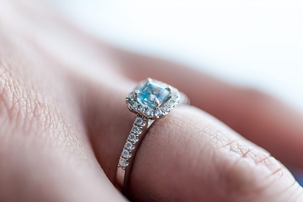 small diamond on a ring