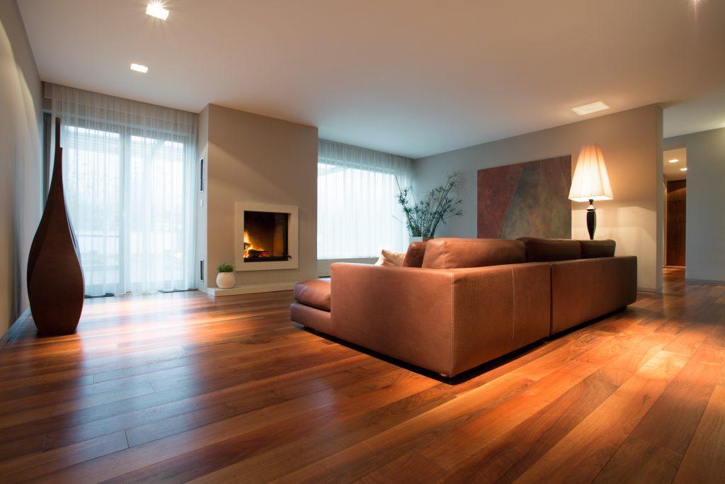 wooden floor of a living room