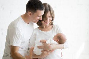 parents with their newborn