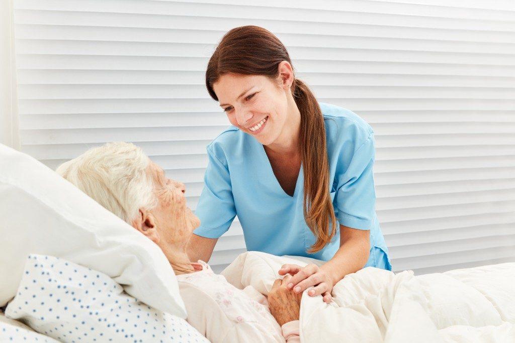 Senior and Nurse