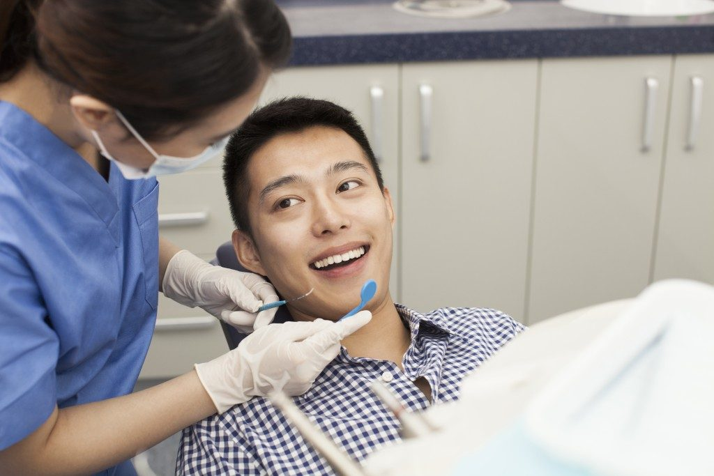 man having a dental check up