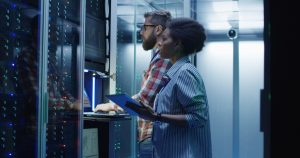 Information technology support in the server room
