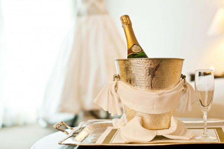 Champagne bottle in a bucket