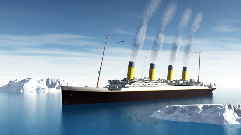 3d representation of the Titanic