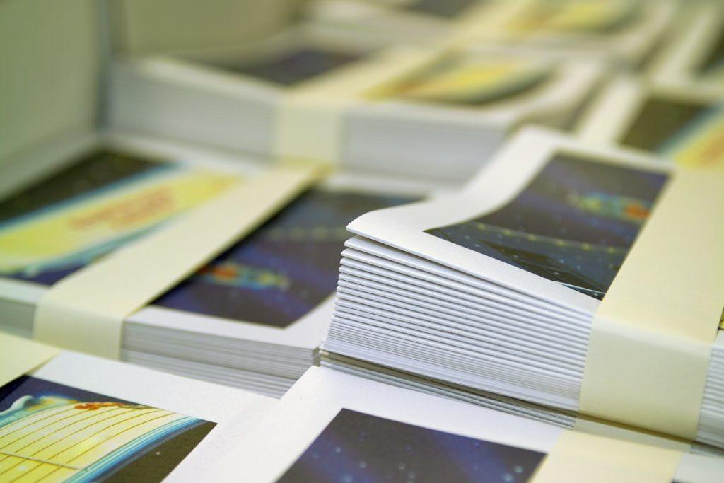bundles of printed brochures