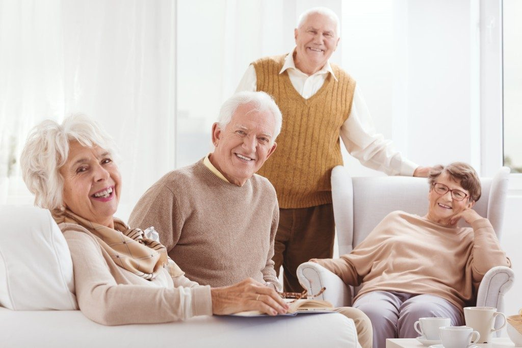 old people sitting together