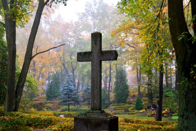 Cross in a cemetery