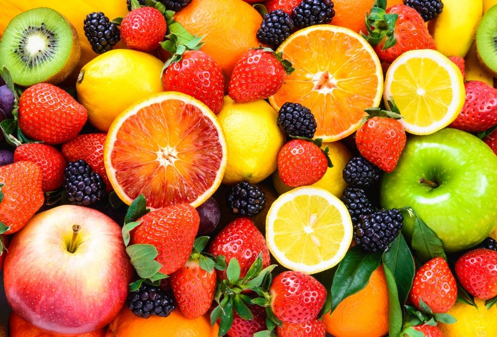 mixed fruits background