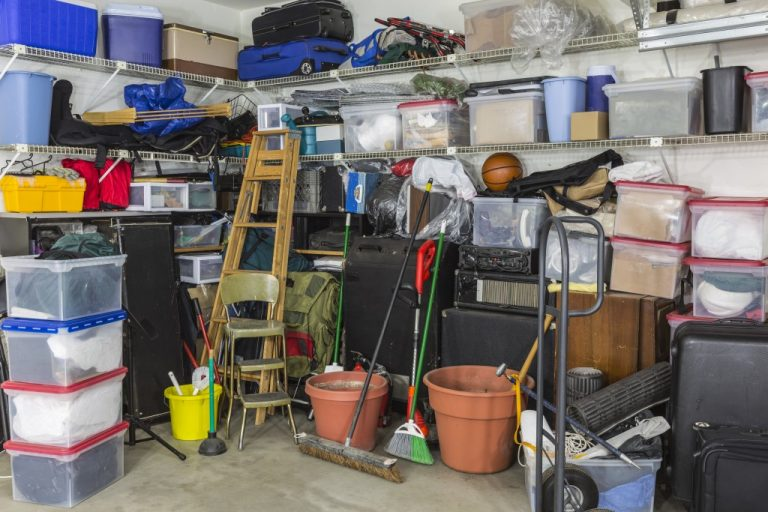 Clutter inside the garage