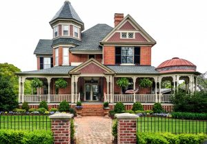 Victorian House with white background