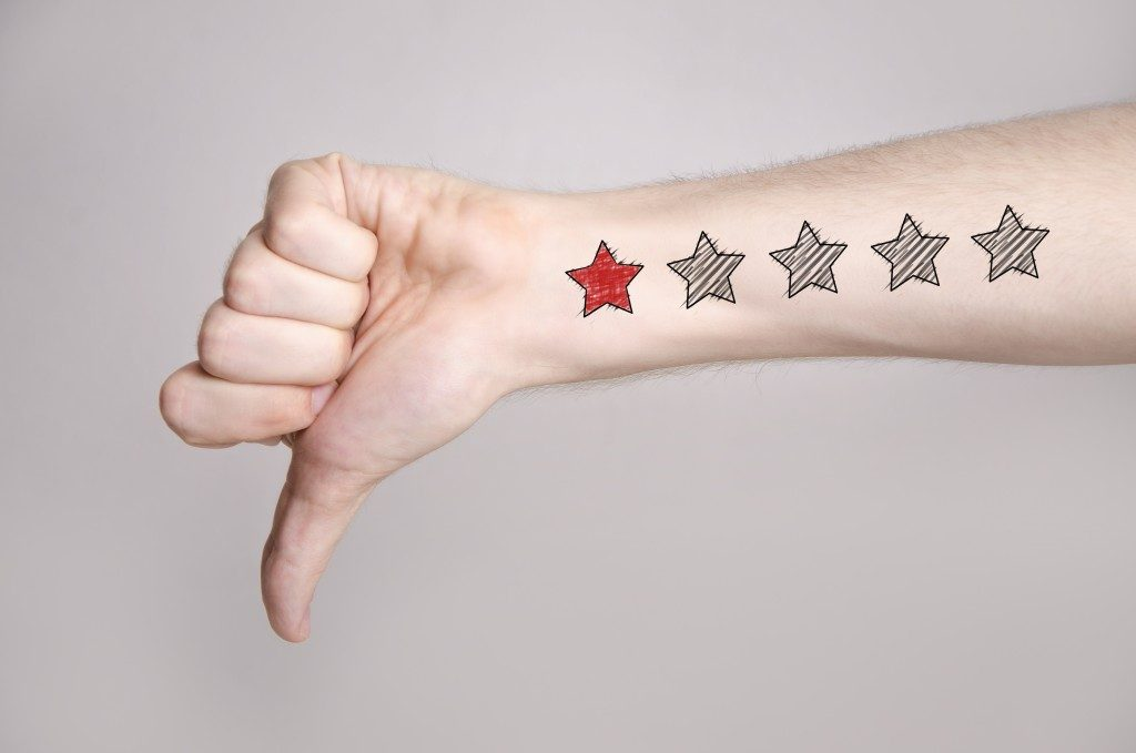 1 star rating on arm