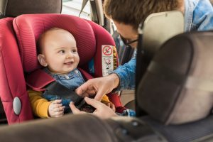 baby with car safety seat